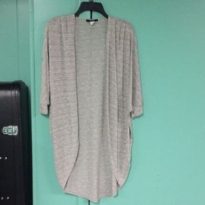 🐼FOREVER 21 LIGHT GRAY LONG LOOSE FIT CARDIGAN 🐼